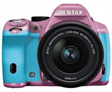 Trio of Pentax cameras, K-50, K-500 and Q7