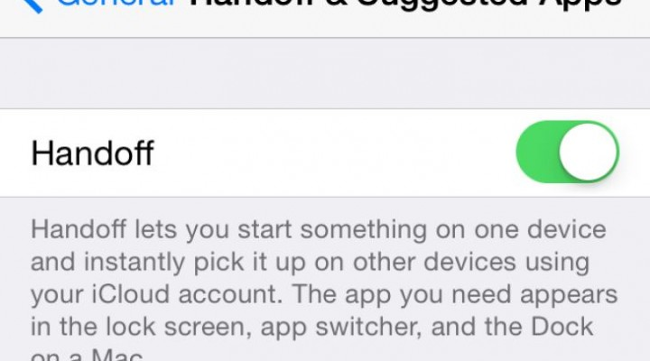 Turn off Apple Continuity, Handoff in iOS 8
