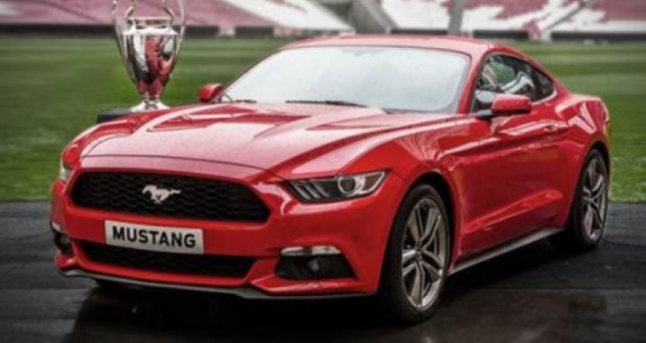 UEFA Champions League Final, kick off for 2015 Ford Mustang