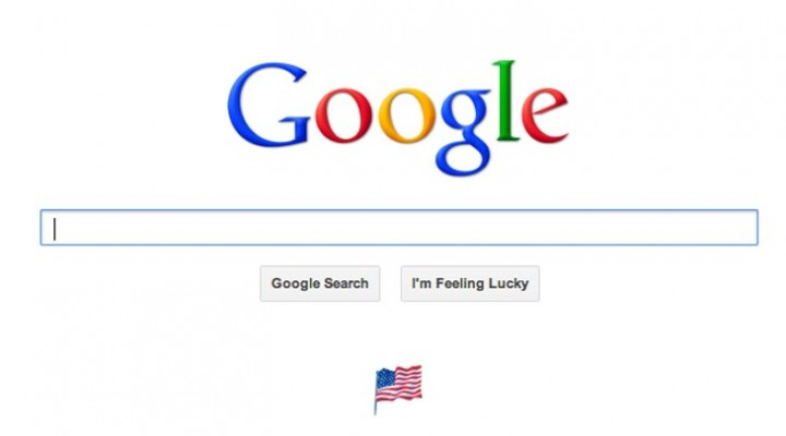Tiny US Flag on Google homepage for Labor Day