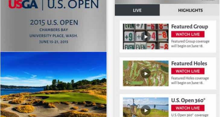 US Open Golf 2015 schedule, leaderboard for iPhone and Android