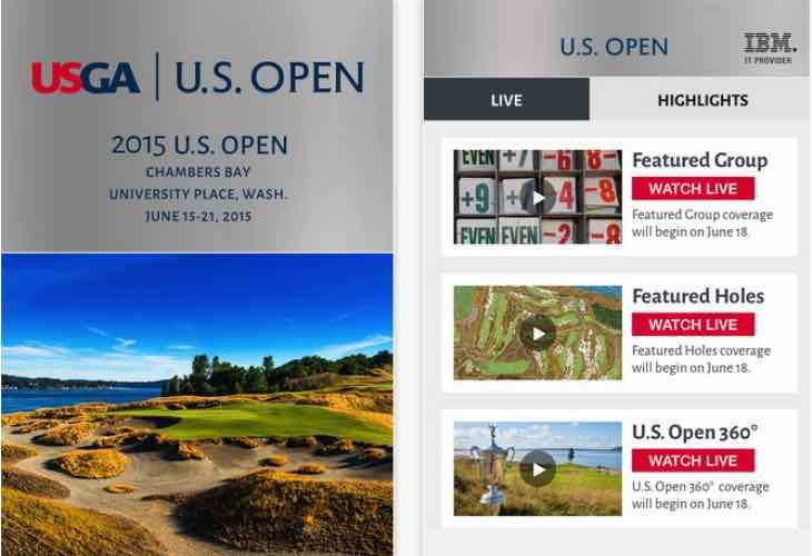 US Open Golf 2015 schedule
