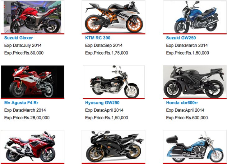 Bikes 2015 In India An error occurred
