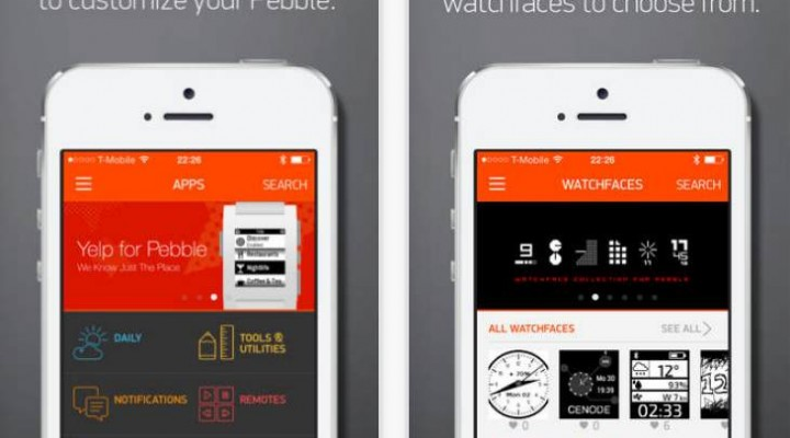 Updated Pebble Smartwatch features in iOS