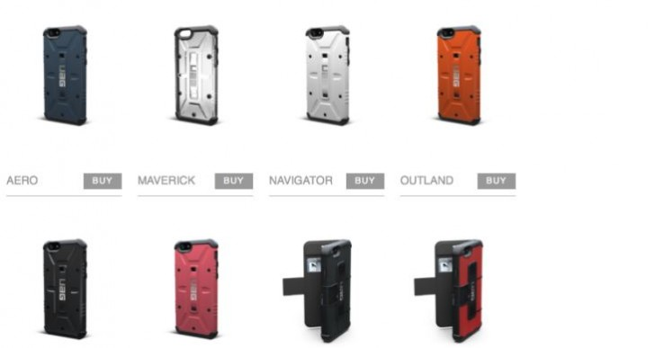 Urban Armor Gear iPhone 6 military case range