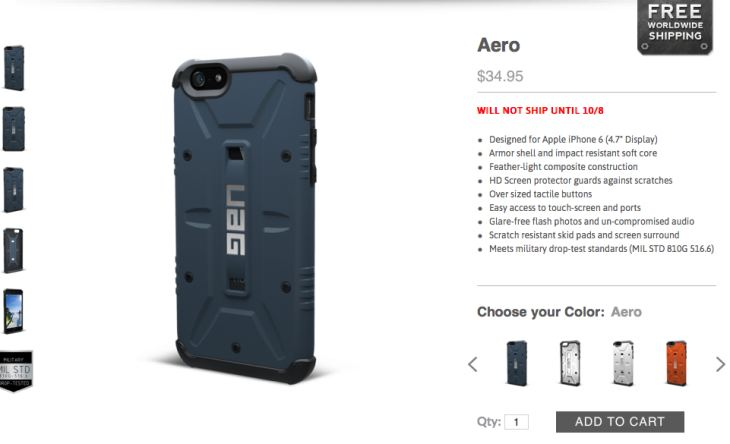 Urban Armor Gear iPhone 6 military cases
