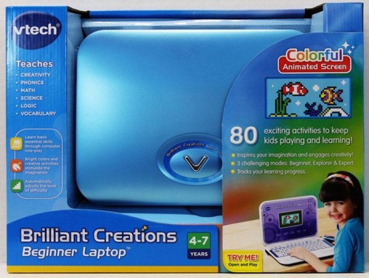 VTech Brilliant Creations Beginners Laptop is perfect for a young child