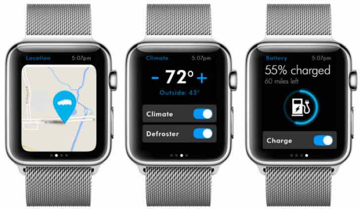 VW Apple Watch Car-Net app