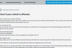 Search Audi, VW models by VIN for emissions recall