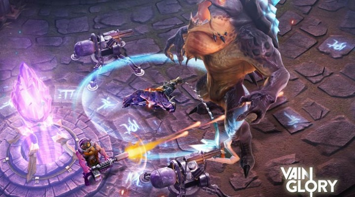 Vainglory game release date and iOS 8 gameplay