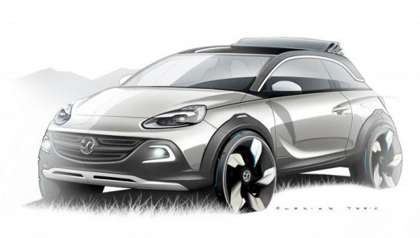 Vauxhall Adam Rocks CUV, MINI rival with Fiat 500C inspiration