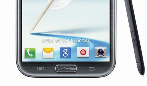 Verizon's Galaxy Note 2 home button replaced