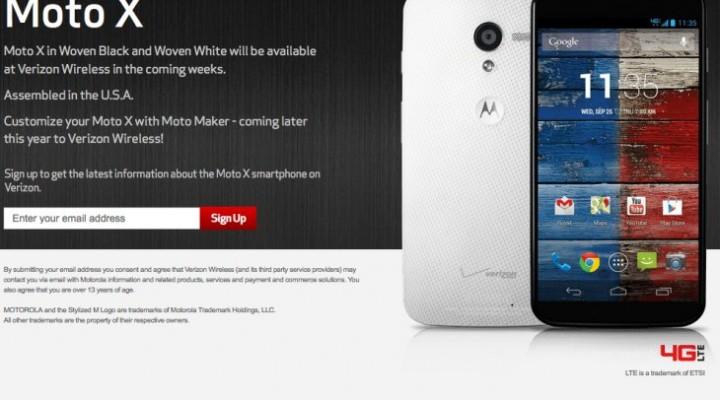 Verizon Moto X release date one step closer