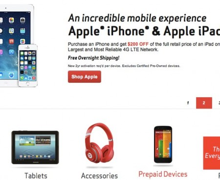Verizon Wireless iPad Air discount tackles old iPhones