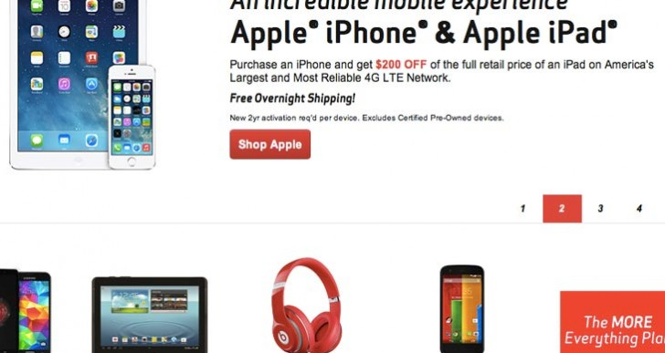 Verizon Wireless iPad Air discount tackles old iPhones