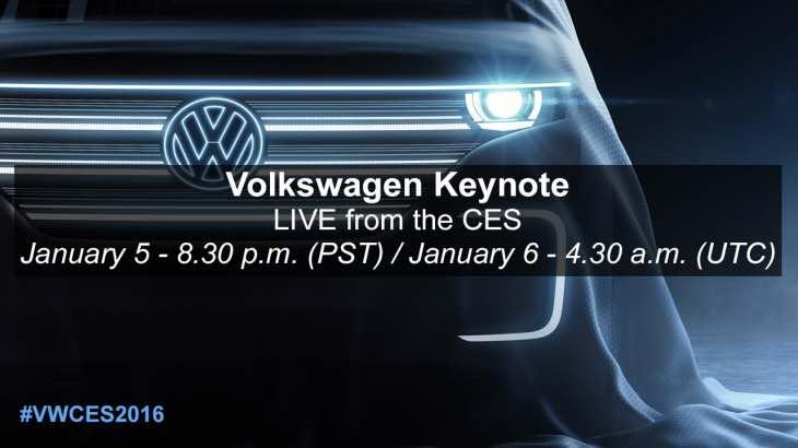 Volkswagen CES 2016 keynote live stream