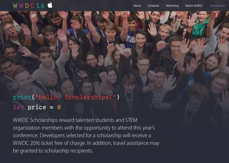WWDC Scholarship 2016 winners