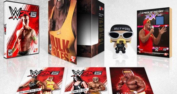 WWE 2K15 Hulkamania Edition cards in boxes