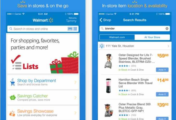 Walmart App update