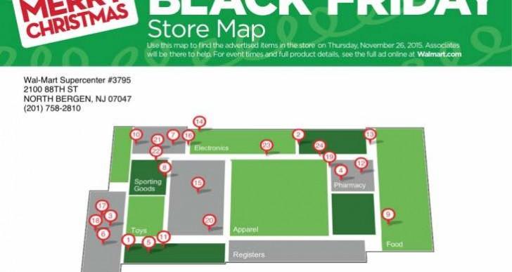 2015 Walmart & Target Store Maps eases shopper congestion
