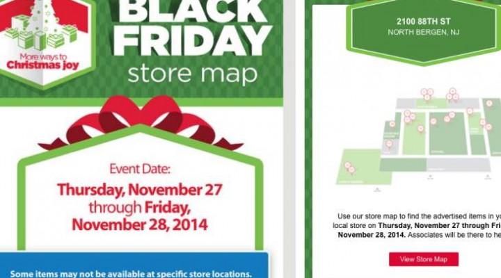 Walmart, Target Store map locators, Best Buy missing