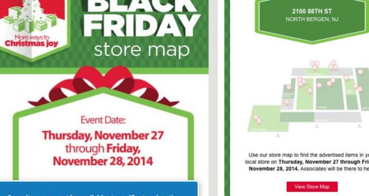 Walmart, Target Store map locators, Best Buy missing