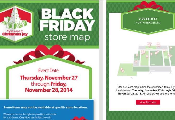Walmart Store map locator