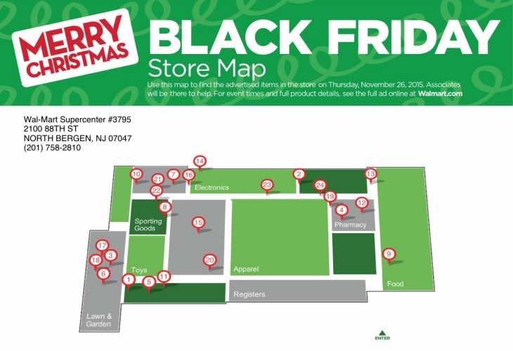 Walmart Store map
