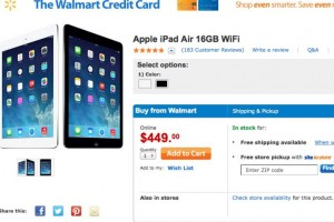 Walmart's iPad Air price trumps others before Air 2