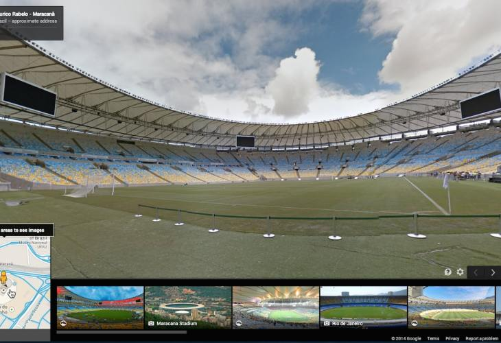 Watch 2014 Brazil World Cup stadiums with Street View