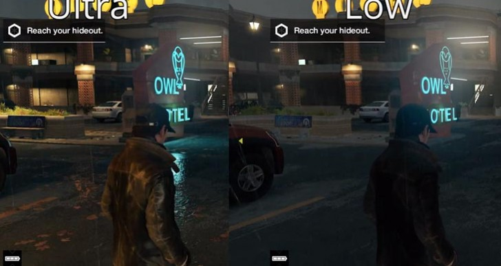 Watch Dogs PC ultra vs. low settings