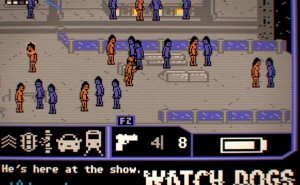 Watch Dogs in retro Commodore 64 gameplay