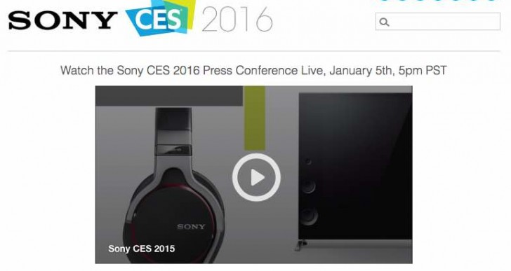 Watch Sony CES 2016 press conference for new products