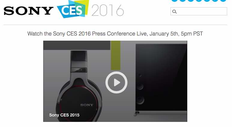 Watch Sony CES 2016 press conference