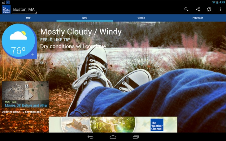 Weather apps for Android phones and tablets
