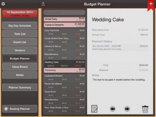 Wedding Planner Pro for iPad