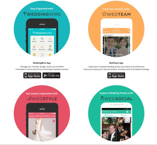 WeddingWire mobile apps