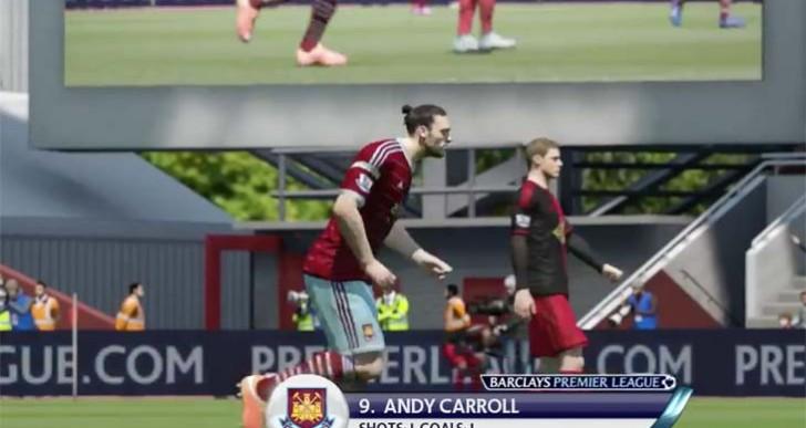 West Ham V Swansea in SIM with Andy Carroll shocker