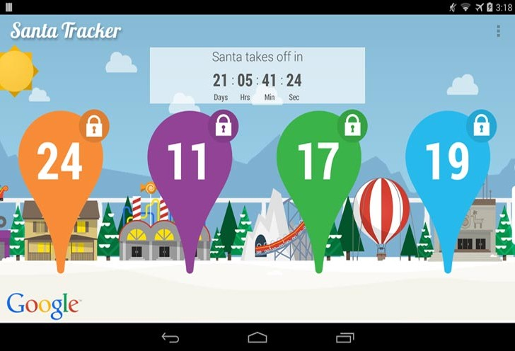 Where Santa is by Android, iOS tracker app