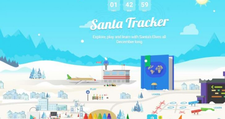 Where is Santa with Norad, Google and track apps