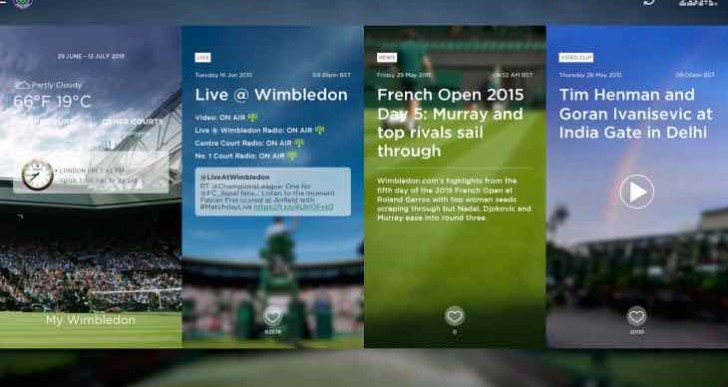 Wimbledon 2015 order of play and live scores app