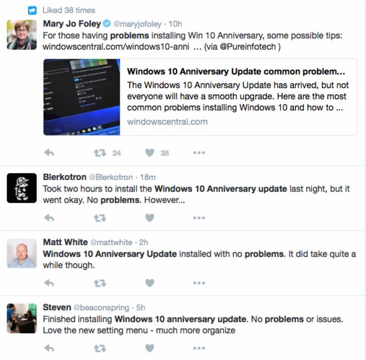 Windows 10 Anniversary Update getting stuck