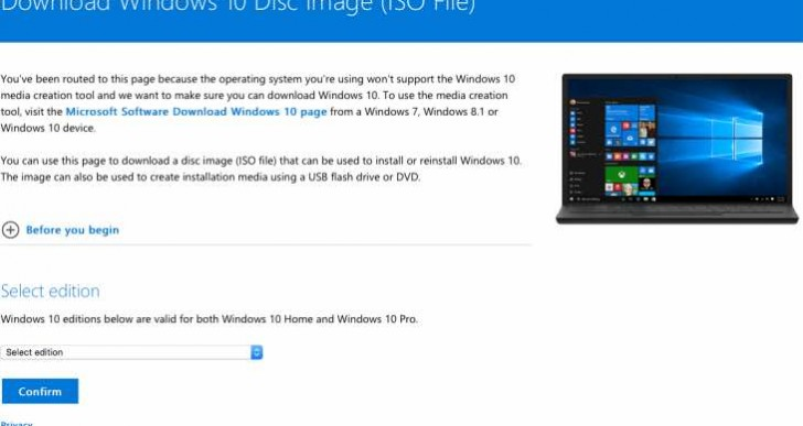 Windows 10 Anniversary Update manual download with Media Creation Tool
