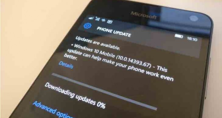 Windows 10 Mobile Anniversary Update bugs for some