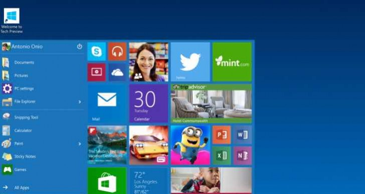 Windows 10 technical preview, insiders download for direction