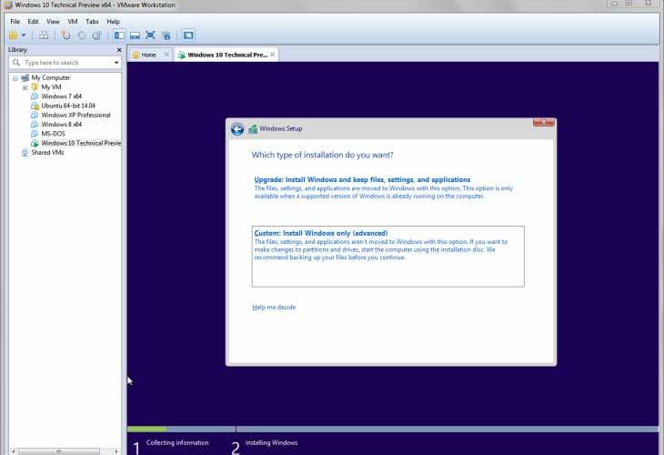 Windows 10 install size