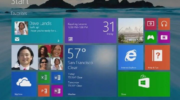 Windows 8.1 download leaked via update link