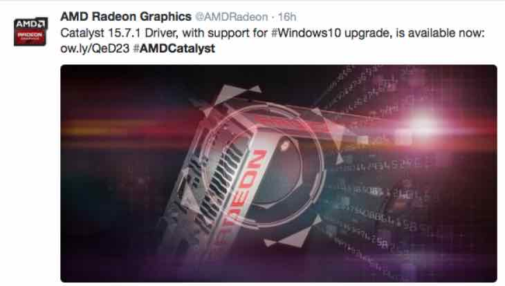 Windows10 upgrade ready Catalyst 15.7.1 Driver