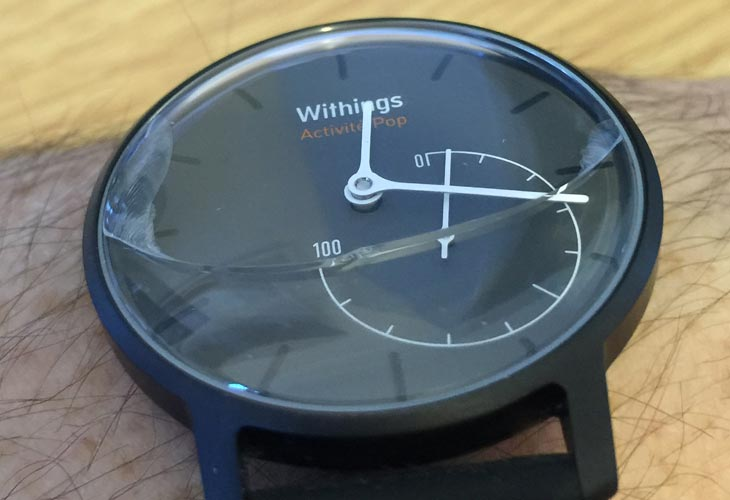 Withings Activite Pop review, recall possible after glass cracking