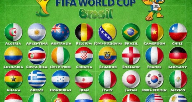 Live World Cup 2014 scores and results via apps